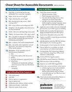 Cheat Sheet for Accessible Documents (WCAG & PDF/UA)