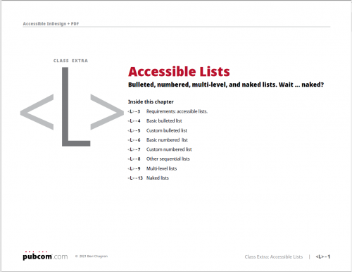 Accessible Lists in Adobe InDesign